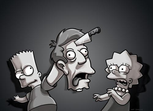 Bart mata a Skinner en un capitulo de Halloween de Los Simpsons\u0026