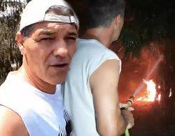 """Frank Cuesta, obligado a defender su casa de un incendio provocado: """"Nos estaba rodeando el fuego"""""""