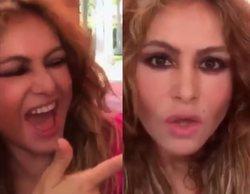 Paulina Rubio reacciona con humor y con una botella de alcohol en la mano a su bochornoso concierto solidario
