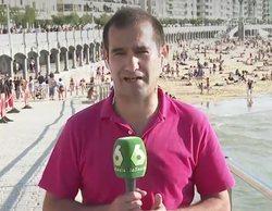 Agreden a un reportero de laSexta con un palo mientras informaba de la afluencia de bañistas en La Concha