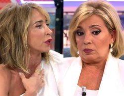 """Tremendo enfrentamiento entre Carmen Borrego y María Patiño: """"Si yo soy muy manipuladora, entonces tú también"""""""