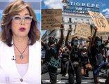 Ana Rosa Quintana critica las aglomeraciones en la manifestación de Madrid por la muerte de George Floyd