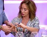 """El accidente de María Patiño en 'La última cena': """"¡Se me está poniendo morado!"""""""