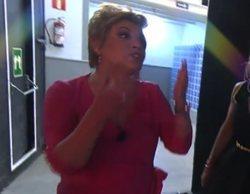 Terelu Campos abandona el plató de 'La última cena' tras discutir con Belén Esteban