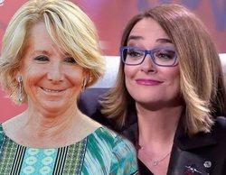 La tensión entre Esperanza Aguirre y Toñi Moreno por Juan Carlos I en 'Viva la vida'