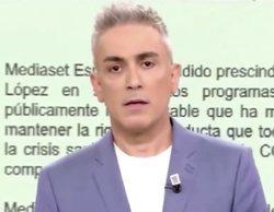 Kiko Hernández se emociona al ser el encargado de anunciar el despido de Marta López en 'Sálvame'
