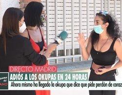 Enfrentamiento en directo en 'El programa del verano' entre la periodista de Mediaset y la okupa de su casa