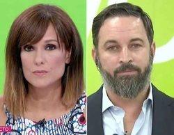 """Santiago Abascal ataca a TVE en su entrevista con Mónica López: """"Actuáis como el NO-DO"""""""