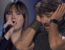 La reacción de Antonio Orozco al reconocer en 'La Voz' a Rocío, finalista de su equipo en 'La Voz Kids'