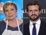 El contundente zasca de Celia Villalobos a Pablo Casado en 'MasterChef Celebrity'