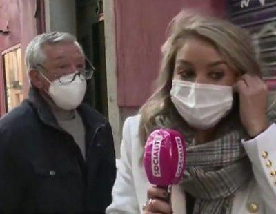 El padre de Rafael Amargo increpa y amenaza a Giovanna González, reportera de 'Socialité'