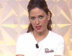 Nuria Marín muestra sus bragas en directo con la cara de Isabel Pantoja