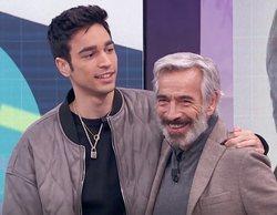 Daniel Arias sorprende a su padre, Imanol Arias, en 'La hora de la 1' y cuenta la única bronca que le echó