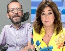 """Las redes arden ante el zasca de Pablo Echenique a Ana Rosa Quintana: """"Igual esperaba que hiciera un trompo"""""""