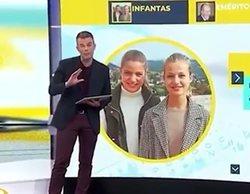 Nueva polémica en TVE por usar fotos de las infantas Leonor y Sofía al hablar de la vacunación de sus tías