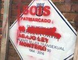"""Atacan y vandalizan de nuevo la placa de La Veneno con pintadas: """"Sois patriarcado"""""""