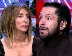 """María Patiño huye de 'Sábado deluxe' ante la intervención de Rafael Amargo: """"Con delincuentes no puedo hablar"""""""