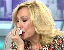 "Rosa Benito, muy afectada, empatiza con Rocío Carrasco: ""Lo he vivido, por eso me removió muchas cosas"""