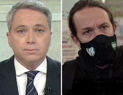 """Vicente Vallés carga severamente contra Pablo Iglesias y le acusa de """"colocar en una diana"""" a periodistas"""