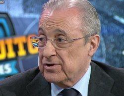 'El chiringuito de Jugones' (7,8%) brilla con la entrevista a Florentino Pérez por la polémica Superliga