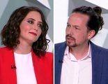 Tenso encontronazo entre Isabel Díaz Ayuso y Pablo Iglesias por las muertes durante la pandemia