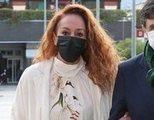 Rocío Carrasco llega al juzgado como demandada de Antonio David Flores por impago de la pensión de su hijo