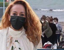Rocío Carrasco, captada grabando su regreso a Chipiona en el 15º aniversario de la muerte de Rocío Jurado