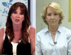 Esperanza Aguirre y Mamen Mendizábal acaban a gritos en 'Más vale tarde' en una entrevista llena de reproches