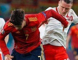 El España-Polonia de la Eurocopa 2020 se dispara a un 51,5% y 'laSexta noche' baja a un 6,8%