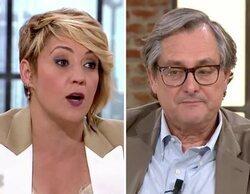 """Cristina Pardo y Paco Marhuenda protagonizan un bronco momento a cuenta de Juan Carlos I: """"¿Es un santo?"""""""