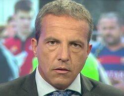 Cristóbal Soria se lesiona en directo e interrumpe 'El Chiringuito de Jugones' muerto de dolor