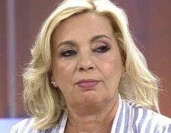 Carmen Borrego regresa al plató de 'Sálvame' como concursante de 'La última cena' y se entera en directo