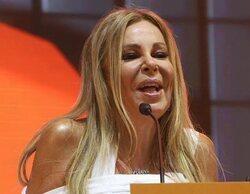 """Ana Obregón, al recoger el Premio Joan Ramon Mainat: """"Hay dos personas orgullosas de mí: mi madre y mi hijo"""""""