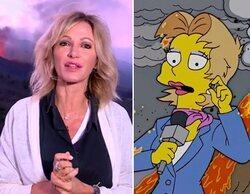 'Los Simpson' también predijeron la cobertura de Susanna Griso desde el volcán de La Palma