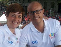Ernest Riveras y Lourdes García Campos también se quemaron con los focos del especial Madrid 2020 de 'España directo'