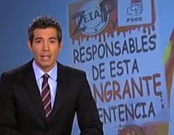PSOE denuncia que la única pancarta en el 'Telediario' durante la manifestación de la AVT era contra Zapatero