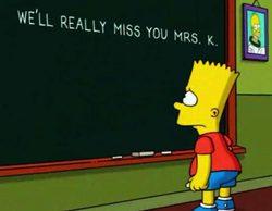 Bart Simpson homenajea a Edna Krabappel en la pizarra de 'Los Simpson'