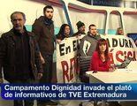 El movimiento Campamento Dignidad boicotea la emisión del informativo territorial 'Noticias de Extremadura' de TVE