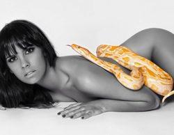 Cristina Pedroche completamente desnuda con una serpiente