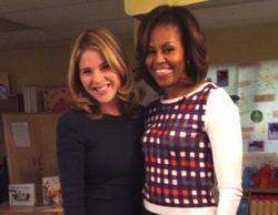 Jenna Bush, hija de George Bush, entrevistó a Michelle Obama
