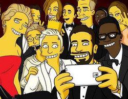 """Homer se cuela en el """"selfie"""" de los Oscar y """"simpsoniza"""" a sus protagonistas"""