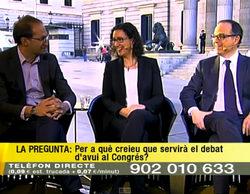 """Un espontáneo se cuela en la emisión de TV3 en Madrid: """"¿Dónde están los cojones de Mas para venir aquí?"""""""