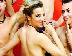 Corina sube la temperatura de Twitter publicando una foto con sus bailarines de '¡Mira quién baila!' semidesnudos