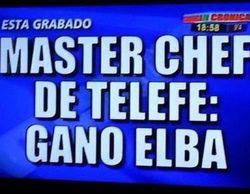 Una televisión argentina filtra el ganador de 'MasterChef' horas antes de que se emita la final en otra cadena