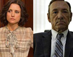 Kevin Spacey como Selina Meyer de 'Veep' y Julia Louis-Dreyfus como Frank Underwood de 'House of Cards'
