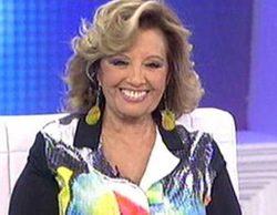María Teresa Campos, nerviosa e incómoda cuando le preguntaron por Bigote Arrocet en '¡Qué tiempo tan feliz!'