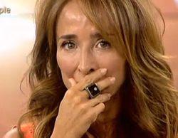 María Patiño no pudo contener las lágrimas este viernes en 'Sálvame deluxe'