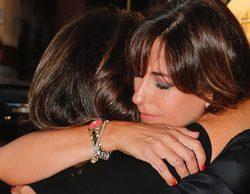Mariló Montero apoya a Ana Rosa Quintana en la misa funeral de su madre