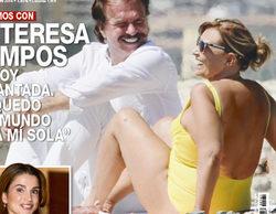 """María Teresa Campos, pillada en bañador en la playa junto a Bigote Arrocet: """"Para mí es brutal verme en la portada"""""""