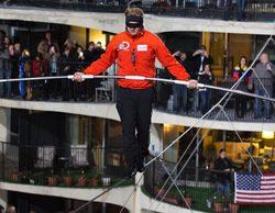 Nik Wallenda logra dos récord Guinness mundiales tras cruzar con éxito el cielo de Chicago